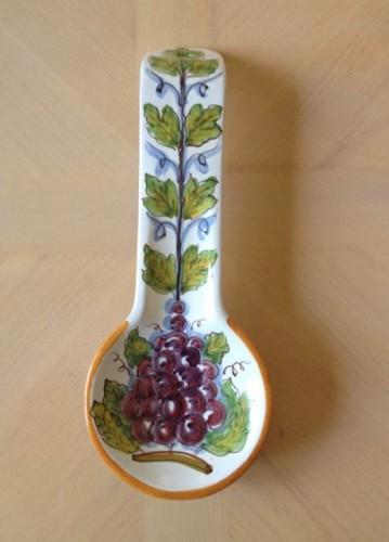 Spoon Rest Italian Ceramic Hand Painted Caltagirone